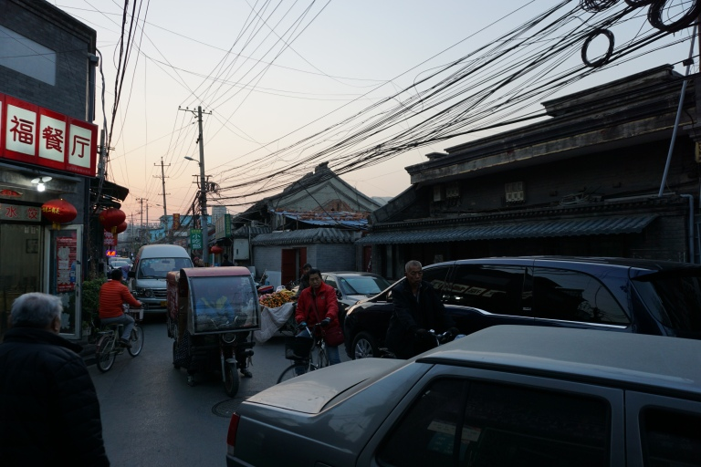 Traffic in a hutong